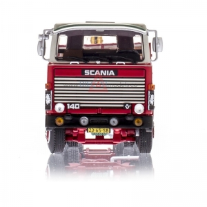 Scania 111-141 Tractor With 3-Axle Classic Brick Trailer Croonen